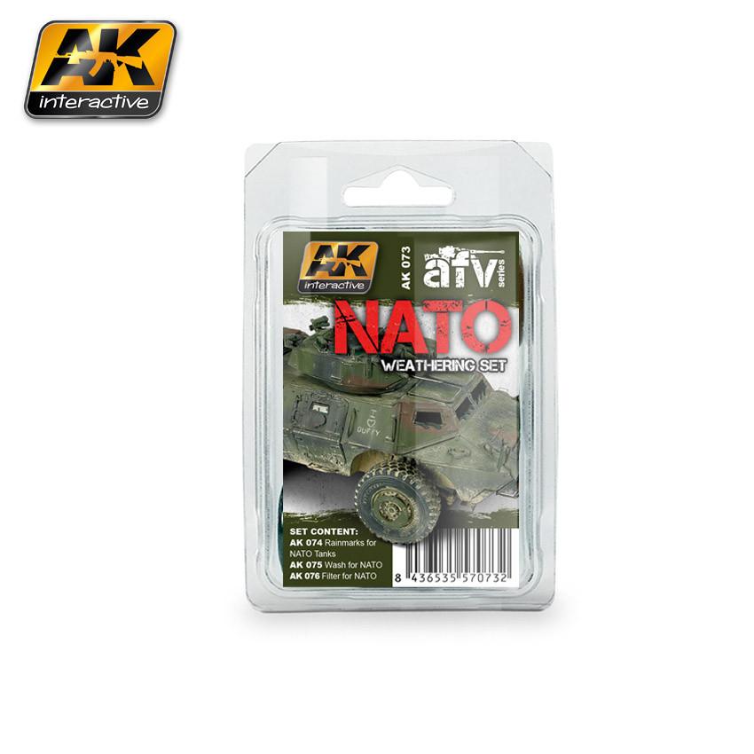 Набор смывок для везеринга на любой бронетехнике НАТО. AK-INTERACTIVE AK073