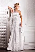 """Прокат 1500 грн. Свадебное платье из гипюра и кружев """"Цветочное дефиле"""""""