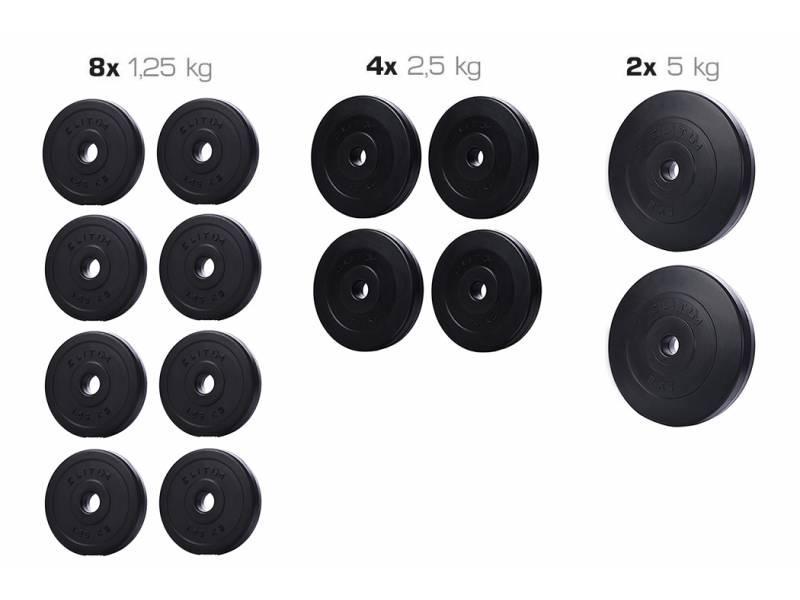 Набор ELITUM из композитных дисков С-30 кг