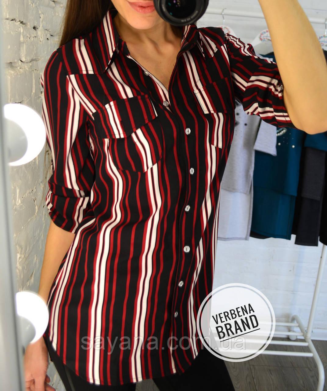 c91ec173c2bd964 Купить Женскую рубашку с разным принтом- полоску, р-р 48-52. ВЕ-6-1 ...