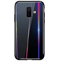 Чехол-накладка TPU+Glass Gradient Aurora для Samsung Galaxy J6 Plus (2018) SM-J610F Black