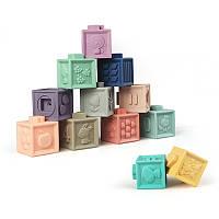 Развивающие силиконовые кубики 12 шт