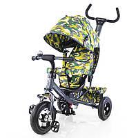 """Велосипед трехколесный TILLY Trike """"Камуфляж"""" T-351-8 графит, резиновые колеса"""