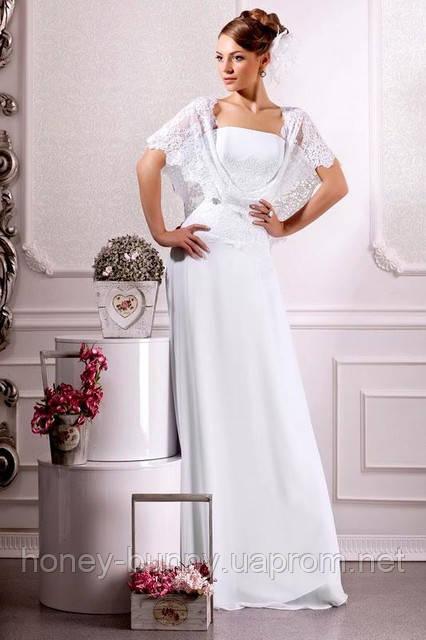 15c058d11a4 Подвенечное платье из гипюра и шифона