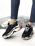 Женские кроссовки Balenciaga Triple S (Black/red), женские баленчиаги трипл с, фото 5