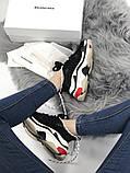 Женские кроссовки Balenciaga Triple S (Black/red), женские баленчиаги трипл с, фото 8