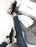 Женские кроссовки Balenciaga Triple S (Black/red), женские баленчиаги трипл с, фото 9