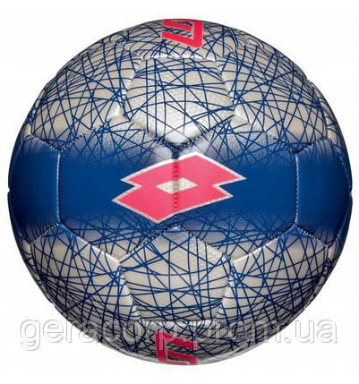Мяч футбол. Lotto S4094 Ball FB 900 LZG 5 white/ red fl, фото 2