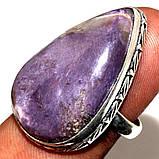 Чароит кольцо капля с чароитом 17,5. Кольцо с камнем чароит Индия, фото 9