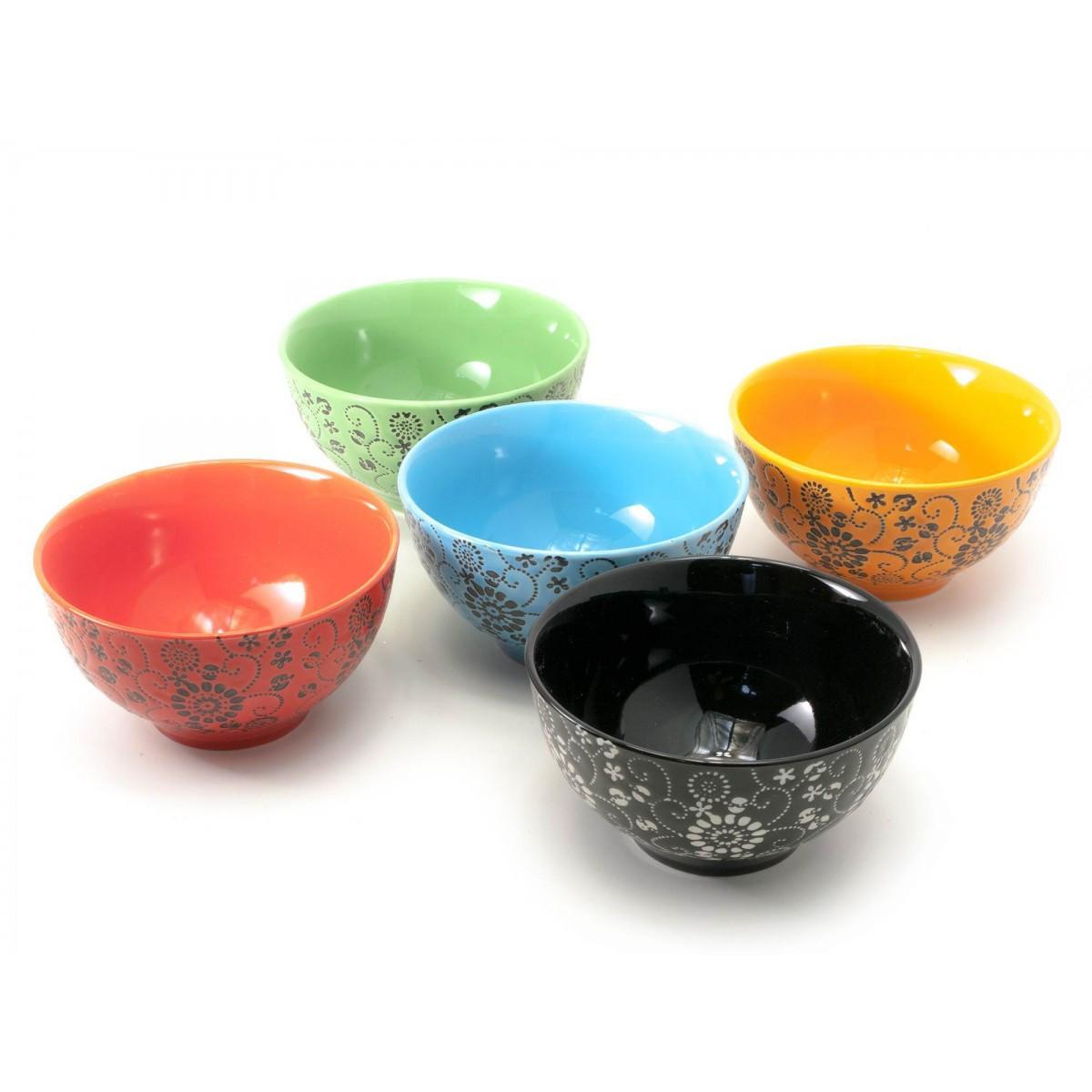 """Набор мисок из керамики """"цветы"""""""