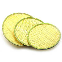 Практичные бамбуковые подносы, 3шт