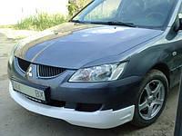 Накладка на передний бампер Митсубиши Лансер 9 (2003 - 2004)