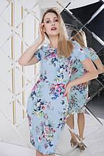 Силуэтное женское платье с отрезной талией