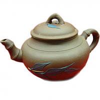Чайник из глины для заваривания чая (400мл.)(17х10х10 см)