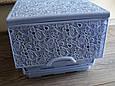 Комод пластиковый ажурный Elif Plastik, Турция, сиреневый, фото 2