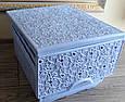 Комод пластиковый ажурный Elif Plastik, Турция, сиреневый, фото 3