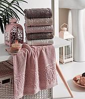 "Махровое полотенце Lux Cotton ""Clara"" 70*140 Philippus 6 шт./уп.,Турция 836"