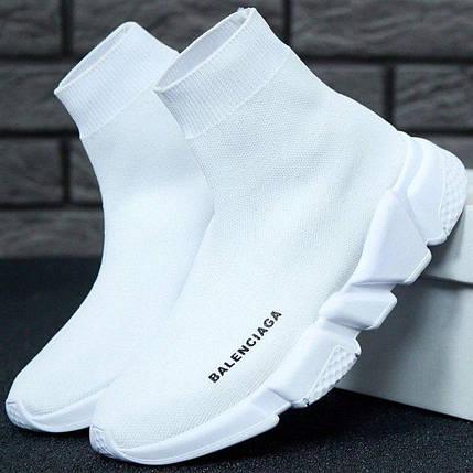 Женские кроссовки Balenciaga Speed Trainer Sock White, фото 2
