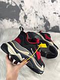 Женские кроссовки Balenciaga Triple S (Red/Black), женские кроссовки balenciaga triple s красные, фото 6
