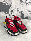 Женские кроссовки Balenciaga Triple S (Red/Black), женские кроссовки balenciaga triple s красные, фото 2