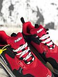 Женские кроссовки Balenciaga Triple S (Red/Black), женские кроссовки balenciaga triple s красные, фото 3