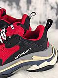 Женские кроссовки Balenciaga Triple S (Red/Black), женские кроссовки balenciaga triple s красные, фото 5