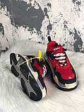 Женские кроссовки Balenciaga Triple S (Red/Black), женские кроссовки balenciaga triple s красные, фото 4