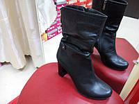 Полусапожки демисезонные черные на каблуке OLLI