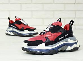 Женские и мужские кроссовки Balenciaga Triple S (Многослойная подошва - ТОП КАЧЕСТВО!), фото 3