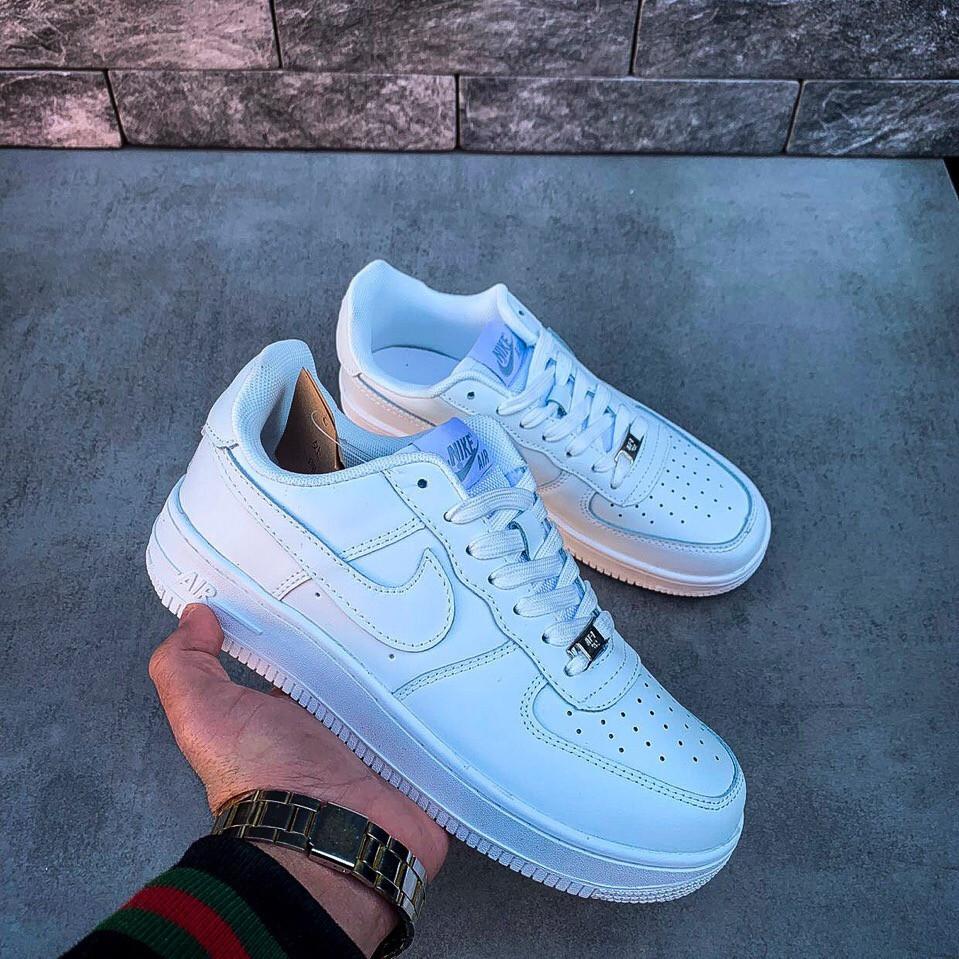 6b74bc67 Женские кроссовки в стиле Nike Air Force low (white), женские найк аир форс