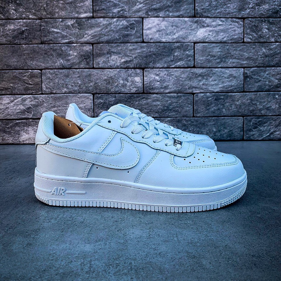 a6aa0606 Женские кроссовки в стиле Nike Air Force low (white), женские найк аир форс  ...