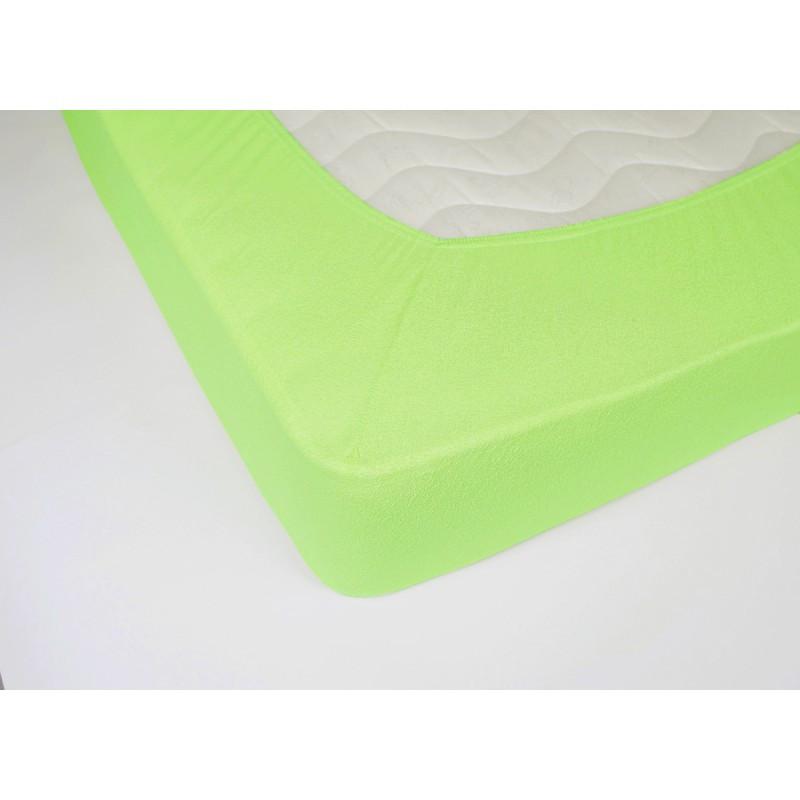 Простынь махровая на резинке Lotus - Салатовая 160*200+25 оптом