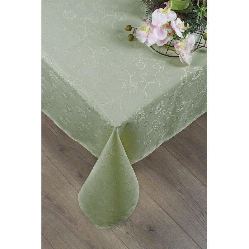 Скатерть Tac - Lilium оливка 160*160