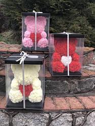 Мишка из 3D роз . Подарочные мишки из цветов