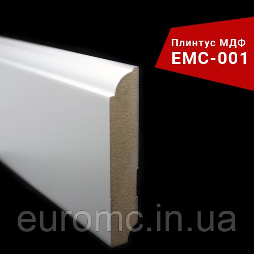 Плинтус из МДФ фигурный белый профиль 19х90х2800 мм