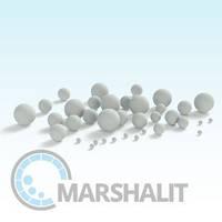 Бисер керамический, шарики керамические Al2O3 92%