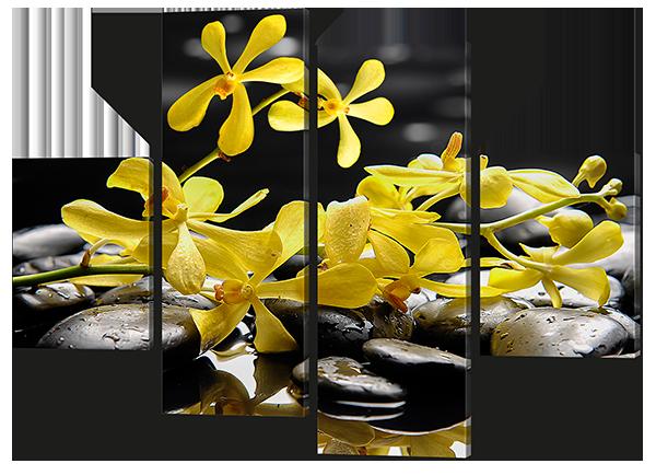 Модульная картина Interno Эко кожа Камни в цветах 106X77см (A642S)