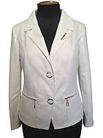 Женский пиджак большие размеры Белый