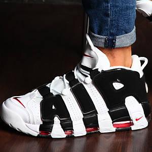 Мужские и женские кроссовки Nike Air More Uptempo White/Black