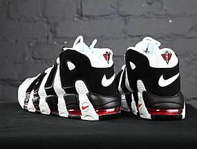 Мужские и женские кроссовки Nike Air More Uptempo White/Black, фото 3
