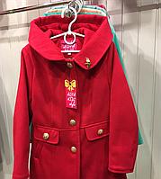 Демисезонное кашемировое пальто для девочки Птичка
