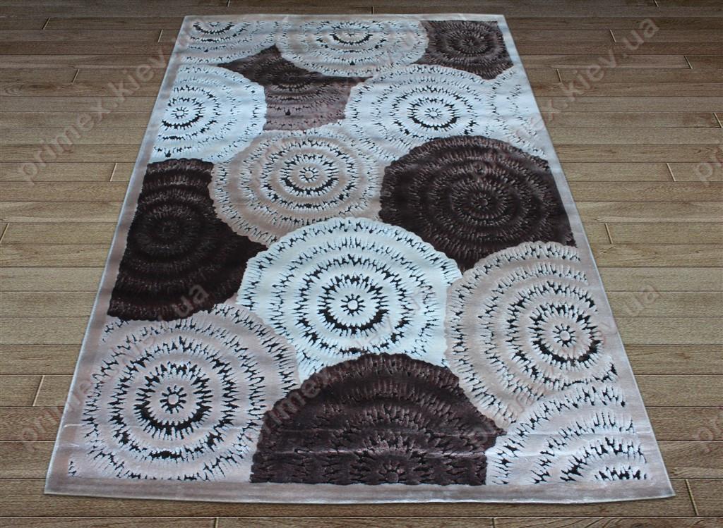 Акриловий рельєфний килим Bonita (Туреччина) клубки коричневий