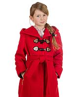 Кашемірове пальто демісезонне для дівчинки Букле з поясом