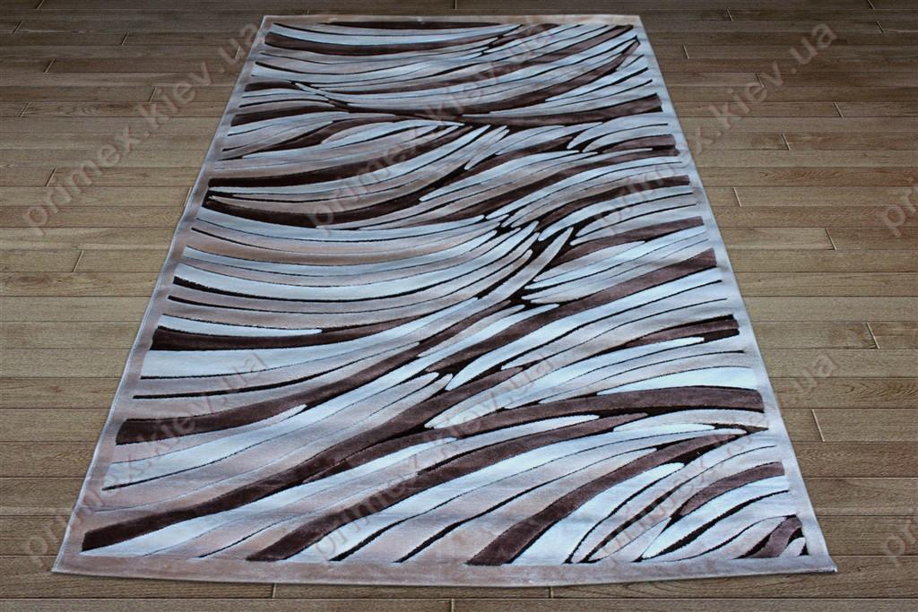 Акриловий рельєфний килим Bonita (Туреччина) зебра коричневий
