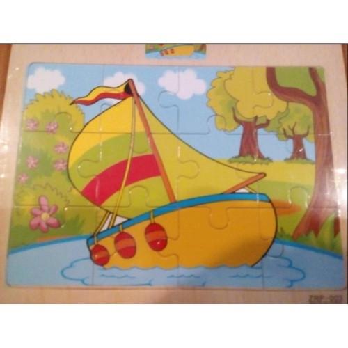 Деревянная игрушка Пазлы MD 003 КОРАБЛИК в шариках 17-14 5-0 5см