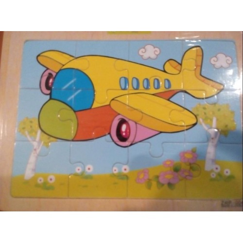 Деревянная игрушка Пазлы MD 004 самолета в шариках 17-14 5-0 5см