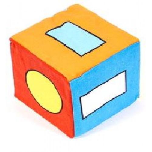 Кубик ткань погремушку Геометрические фигурки ТМ Умная игрушка