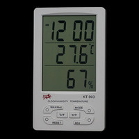 Домашний термо-гигрометр КТ-905, с часами, будильником, календарем