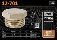 "Заглушка M 1/4"", цилиндрическая, NEO 12-701"
