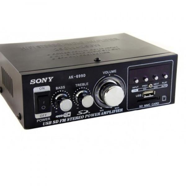 Усилитель звука SONY AK-699D пульт ДУ и FM